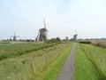 Kinderdijk Historic Dutch Windmill Complex, UNESCO World Heritage Site Royalty Free Stock Photo