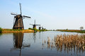 Kinderdijk windmills Royalty Free Stock Photo