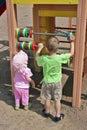 Kinderen die telling leren Stock Afbeelding