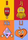 Kindergarten Alphabet I-L Stock Images