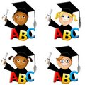 Kindergarten Kids Graduates Royalty Free Stock Photos