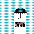 Kindness is life fuel creative minimal illustration with space for your message Stock Photos