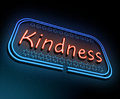 Kindness neon concept. Royalty Free Stock Photo