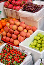 Kinds of fresh fruit in sell Royalty Free Stock Images