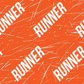 Kinesio tape horizontal seamless pattern or background. Fitness runner orange Scratched elements, sport label, textile
