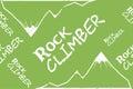 Kinesio tape horizontal seamless pattern or background. Rock climber mountain, sport textile vector