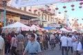 Kineskvarterettårig växt autumn moon festival Arkivfoton