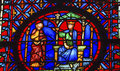 King Advisor Stained Glass Sainte Chapelle Paris France Royalty Free Stock Photo