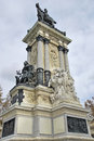 King Alfonso XII monument Royalty Free Stock Photography