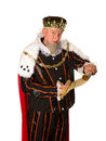 King announcement senior making an holding a parchment scroll Stock Photography