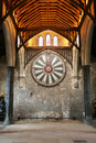 King arthur s round table on temple wall in winchester england u kinng k Stock Image