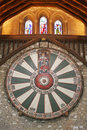 King arthur s round table on temple wall in winchester england u uk Royalty Free Stock Photos