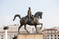 King carol i statue equestrian of in bucharest revolution square is among the royal palace which now houses the national museum of Royalty Free Stock Photo