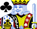 King of club playing card Royalty Free Stock Photo