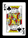 King of clubs playing card, Royalty Free Stock Photo