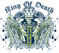 King of death vector illustration ideal for printing on apparel clothing Royalty Free Stock Photos