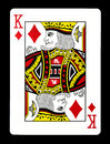 King of Diamonds playing card, Royalty Free Stock Photo