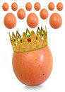 King egg and his subjects Royalty Free Stock Photo