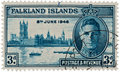King George VI - Falklands Islands Stamp Royalty Free Stock Images