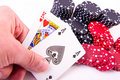 King of hearts and black jack Royalty Free Stock Images