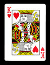 King of hearts playing card,