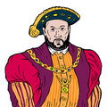 King Henry the VIII Royalty Free Stock Photo