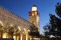 King hussein bin talal mosque in amman at night jordan Stock Images