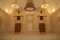 King hussein bin talal mosque in amman at night jordan Stock Photo