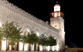 King hussein bin talal mosque in amman at night jordan Royalty Free Stock Photos