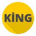 King icon with long shadow