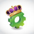 King of the industry concept illustration design over white Royalty Free Stock Image