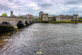 King John castle in Limerick - Ireland. Royalty Free Stock Photo