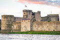 King john castle in limerick ireland Royalty Free Stock Photography