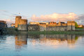King John Castle at sunset Stock Image