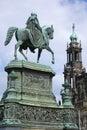 King john of saxony könig johann i von sachsen dresden germany a large equestrian statue johann who ruled Royalty Free Stock Photos