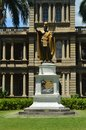King Kamehameha Statue I In Aliiolani Hale Royalty Free Stock Photo