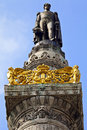 King leopold i statue on the congress column in brussels Stock Photography