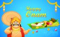 King mahabali in onam background illustration of Stock Photos