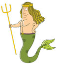 King of mermaid Stock Images