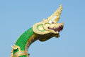 King of nagas closeup head the statue symbol in the watsaman rattanaram chachoengsao Stock Images