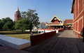 King Palace in Mandalay, Myanmar (Burma) Royalty Free Stock Photo