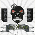 King of rock the vector image vintage Royalty Free Stock Photo