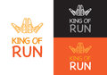 King of Run on Different Background. Fitness. Royalty Free Stock Photo