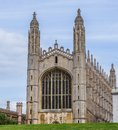 King`s College Chapel, late Perpendicular Gothic English architecture, Cambridge, England Royalty Free Stock Photo