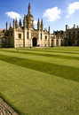 King's College lawn Royalty Free Stock Photo