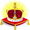 King's Crown on Pillow/eps Stock Photo
