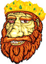 King s face of dwarf wearing a crown smiling Royalty Free Stock Photo