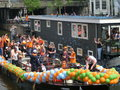 King s holyday fest in amsterdam Royalty Free Stock Images