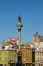 King Sigismund column on castle square, Warsaw Royalty Free Stock Photography