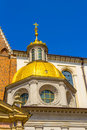King Sigismund's Cathedral and Chapel, Royal Castle at Wawel Hill, Krakow, Poland Royalty Free Stock Photo